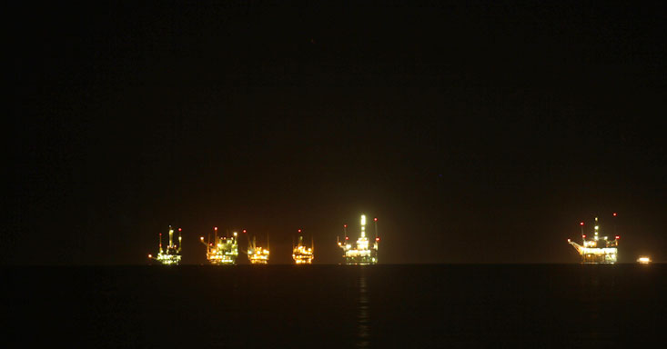 Oil Derricks near Santa Barbara